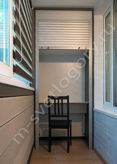 Фотогалерея: шкафы из лдсп с рольставнями.