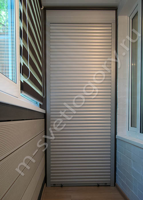 Шкаф на балкон с рольставнями, что собой представляет и как .