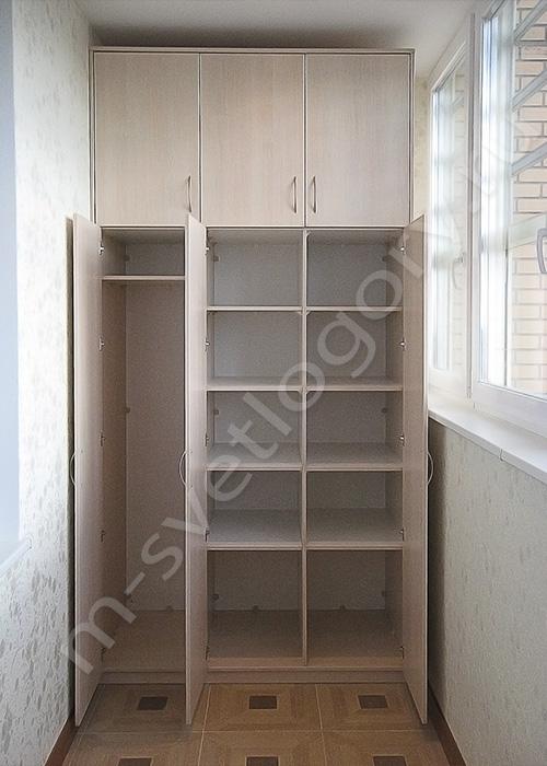 Установка встроенных шкафов на лоджии в казани..