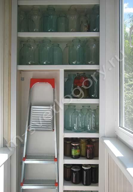 рольставни в шкаф на балкон